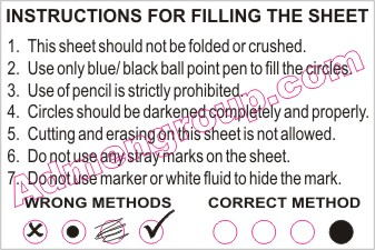 Standard set of instructions on how-to-fill-OMR-Sheets that you will mostly find on OMR Sheets